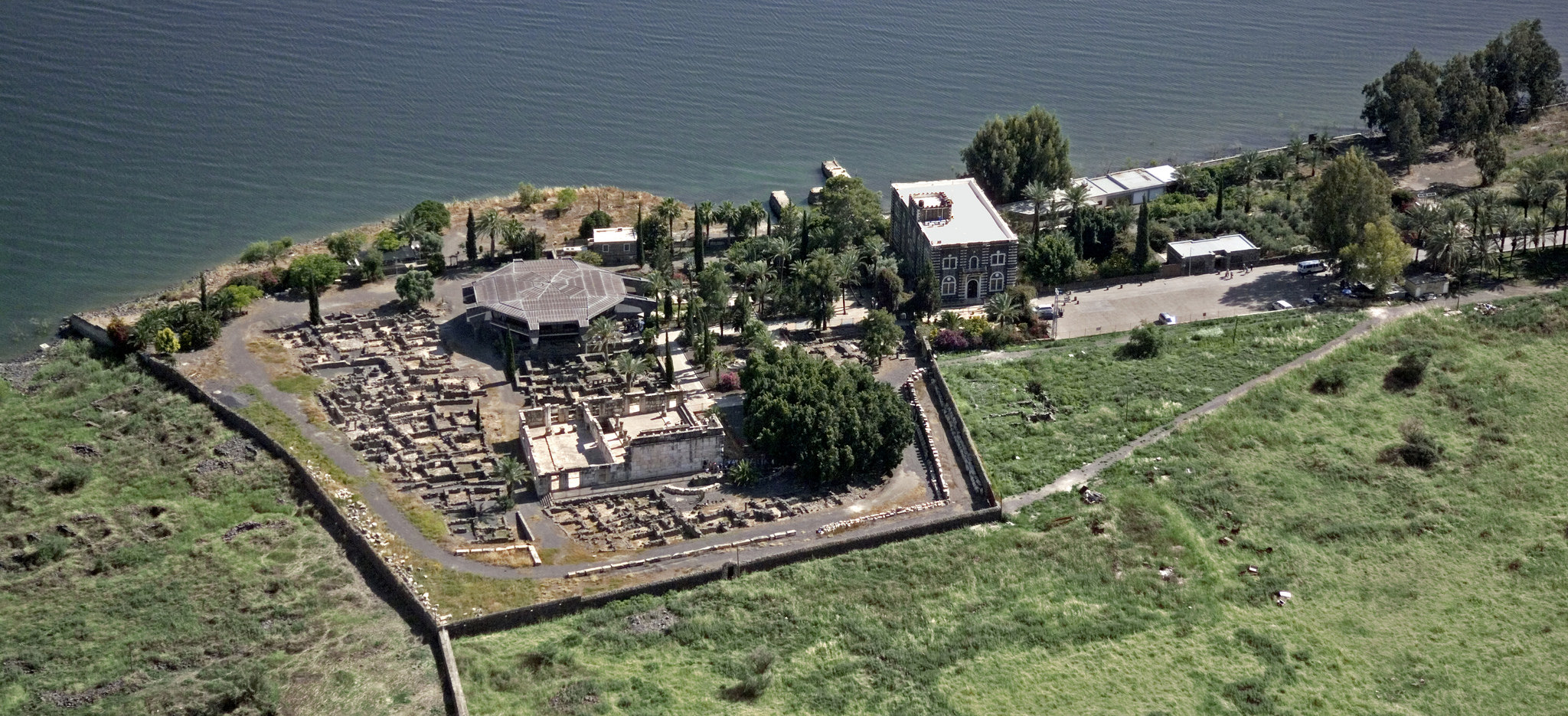 JCapernaum in the Galilee and the Lake of Galilee. An aerial view of the region