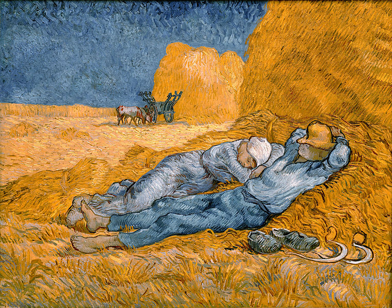 JNoon rest from work - Van Gogh
