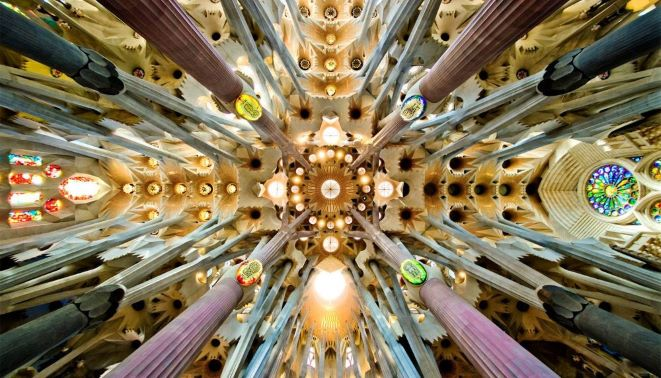 JSagrada Familia nave roof detail2