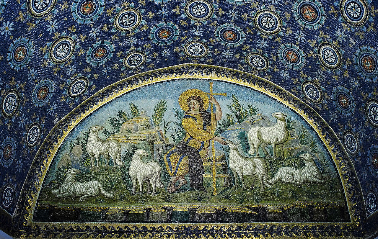 JThe good Shepherd  mosaic - Mausoleum of Galla Placidia